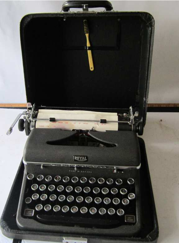Royal typewriter with case