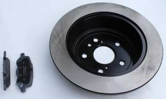Replacement brake pads, rotors and drums.
