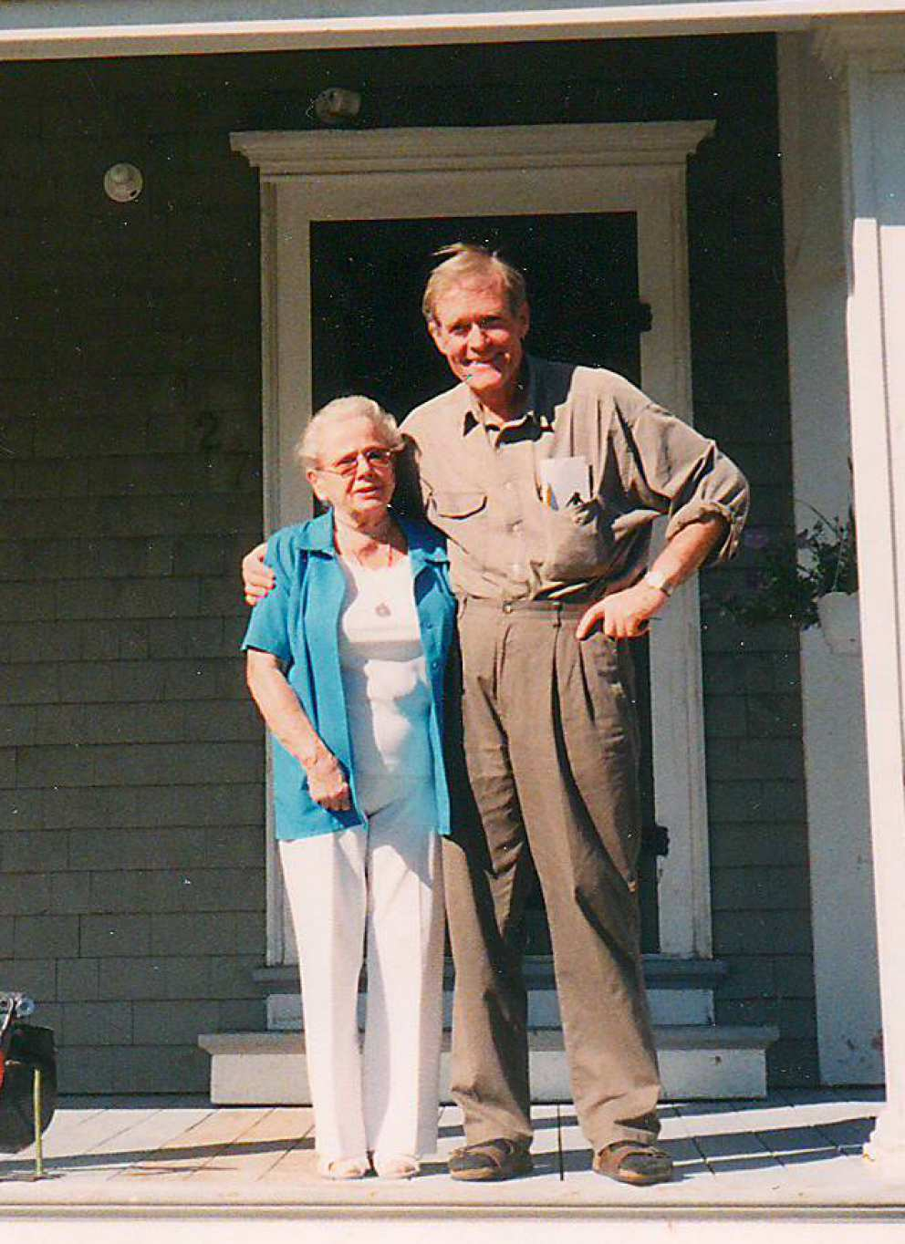 Ruth with good friend Gene Hart
