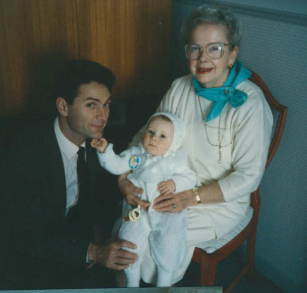 Henry Ryken and Ruth with grandson Luke (son of Scott and Jennifer) at Christening in 1988.
