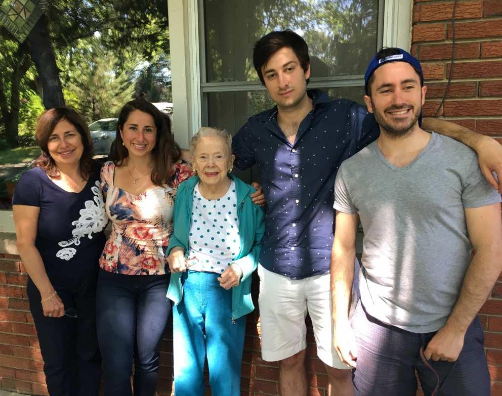 Ruth with Scott's Family (Jennifer, Rebecca, Sam and Luke) in 2017