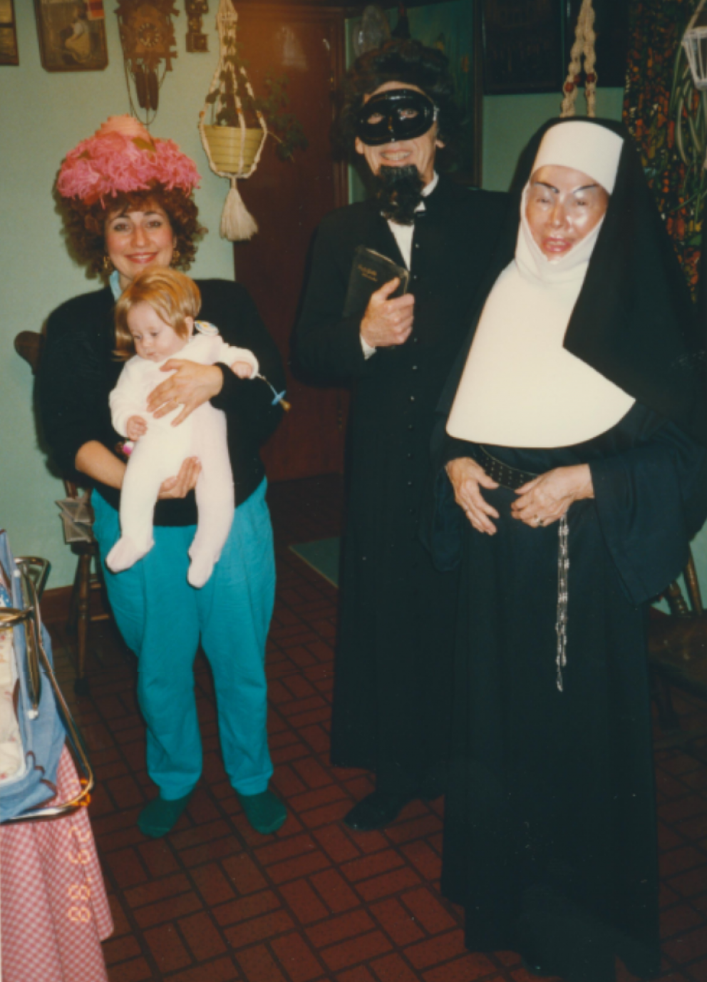 Jennifer and Luke Sinclair (Scott's family) with Jim and Ruth Halloween 1989.