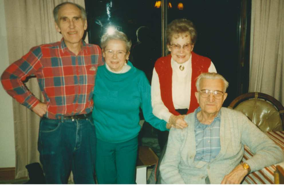 Jim, Ruth with sister Mary and her husband Harvey of Own Sound.