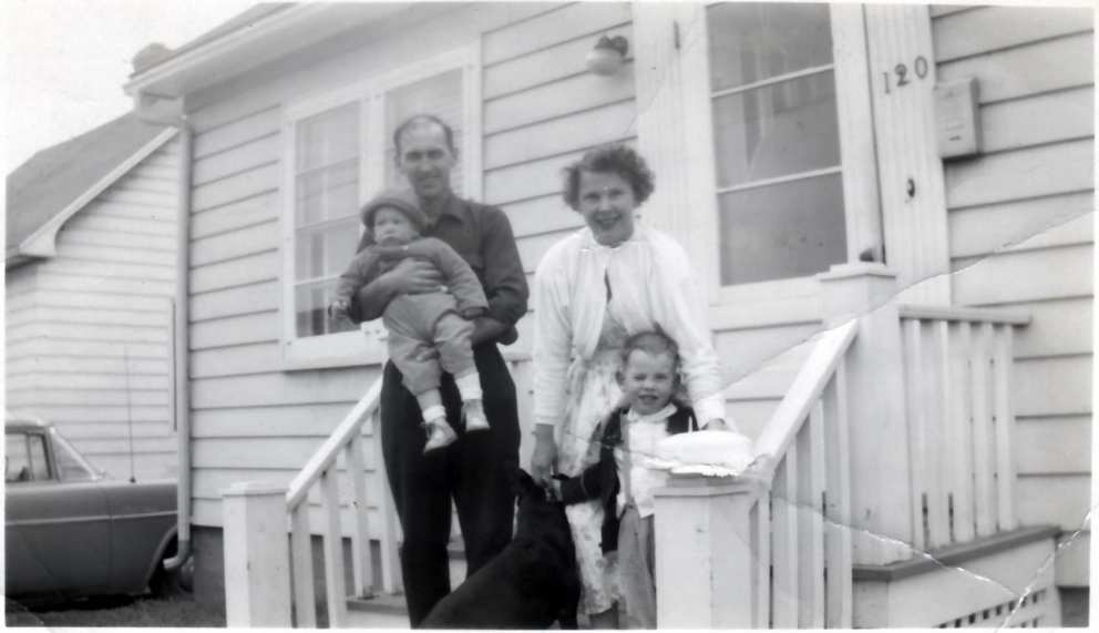 Jim and Ruth with Ron and Don in Moncton circa 1955.