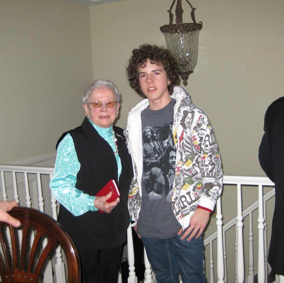 Ruth with Colin (Hugh's son) Christmas 2014.