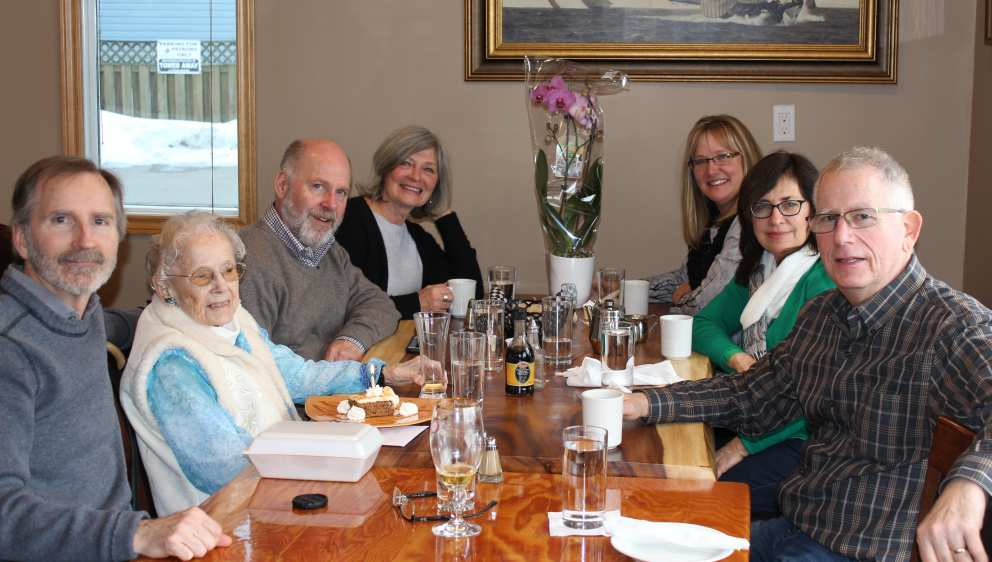 Celebrating Ruth's 94th birthday in Ereau.