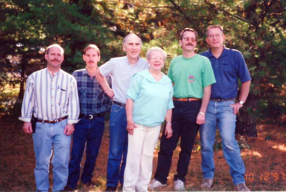 The Sinclair family. Hugh, Don, Jim, Ruth, Scott, Ron. 1997