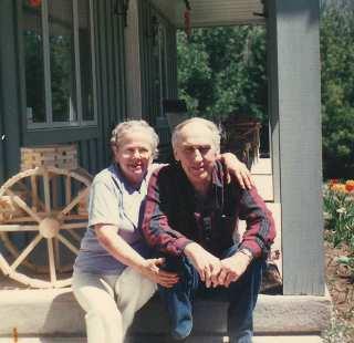 """Ruth and Jim at the """"Lodge"""""""