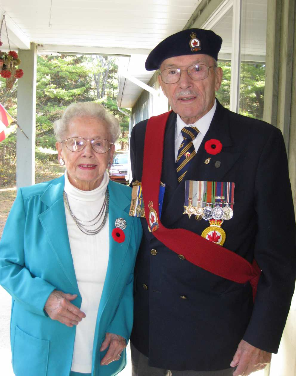 Ruth with brother Howard a decorated war veteran